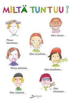 Tunnetaidot - Värinautit Finnish Grammar, Finnish Language, Learn Finnish, Early Childhood Education, Occupational Therapy, Parenting, Teaching, Activities, School