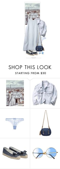 """""""Les Toits Bleus De Paris / Paris Blue Rooftops"""" by halfmoonrun ❤ liked on Polyvore featuring 1Wall, Gap, Chantelle and See by Chloé"""