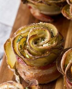 How to cook potato roses #potato #potatoes #bacon #rose #dinner #recipes #delicious #food #foodgasm
