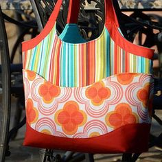 Smile and Wave Tote Bag PDF Sewing Pattern + Adjustable Strap Tutorial from Betz White
