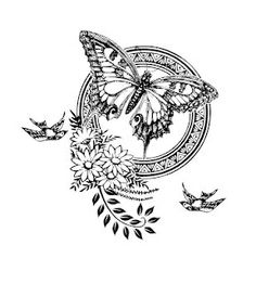 Granny Enchanted Digital Scrapbooking, some free kits. Would be a pretty cool tattoo. Coloring Books, Coloring Pages, Foto Transfer, Butterfly Art, Butterflies, Free Digital Scrapbooking, Quilling Patterns, Shabby, Vintage Labels