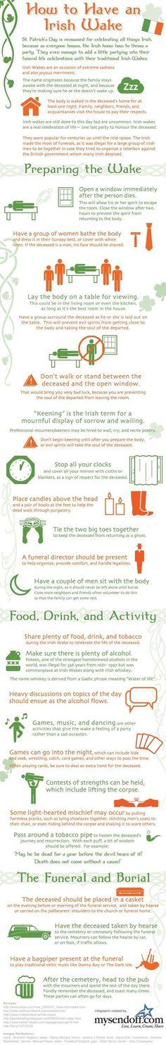☘☘ Ïŕἶŝђ €ƴẻŝ Ꭿŕẻ Ꮥ๓ἶℓἶภ' ☘☘ ~ How to Have an Irish Wake. Via 10 Interesting Funeral Infographics. Dublin, Irish Quotes, Irish Sayings, Irish Eyes Are Smiling, Irish Pride, Celtic Pride, Irish Culture, Irish Blessing, Irish Traditions
