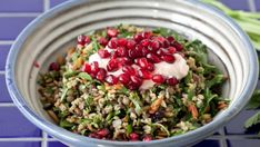 You need to make this to-die-for Mediterranean salad, finished with fresh pomegranate.