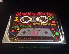 New Birthday Cake For Husband Surprise Ideas Birthday Cake For Husband, Happy 40th Birthday, 40th Birthday Cakes, Birthday Ideas, Birthday Nails, 80s Party Decorations, Party Themes, Bolo Youtube, 80s Birthday Parties