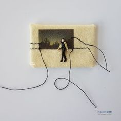 SOLD. #13 Pain is weakness leaving  minimass® TINY ART by Anne-Marie Ros .nl