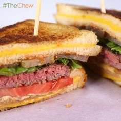 Clinton Kelly's Grilled Cheese Hamburger! #TheChew