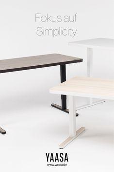Bei der Entwicklung des Yaasa Desk Light ging es uns nicht darum, einen weiteren höhenverstellbaren Tisch zu entwickeln. Ziel war es, den Tisch möglichst effizient zu gestalten, um ihn so auch alltagstauglich zu machen – und damit fürs eigene Zuhause geeignet. Dining Bench, Furniture, Design, Home Decor, Goal, Ad Home, Dining Room Bench, Table Bench, Interior Design