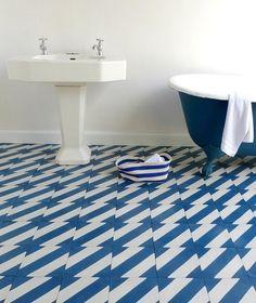 patterned bathroom tiles | Pattern on Pattern