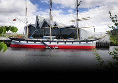 The Tall Ship, Glasgow Riverside Museum, West End, Tall Ships, Glasgow, Sailing Ships, Vintage Shops, Scotland, Europe, Spaces