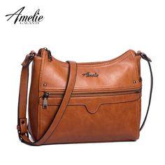 5016625049c AMELIE GALANTI Female Shoulder Bags Crossbody Bags for Women 2018 Multi  Pockets PU Leather