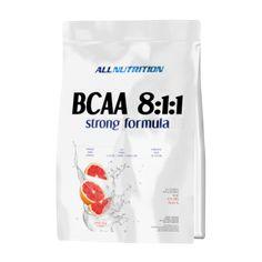 Allnutrition BCAA 8:1:1 Strong ЦЕНА: 62ЛВ. Е аминокиселинна хранителна добавка съдържаща оптимални количества l-левцин, l-исолевцин и l-валин в перфектно съотношение 8:1:1. Това са аминокиселини с разклонена верига, които са от семейството на незаменимите аминокиселини. За тях е характерно, че не се произвеждат в тялото и трябва да се набавят посредством диета или хранителна добавка.