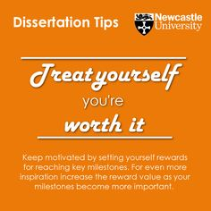 Treat yourself – you're worth it Keep motivated by setting yourself rewards for reaching key milestones. For even more inspiration increase the reward value as your milestones become more important.