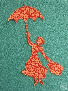 Mary Poppins applique pattern - My daughter watches this movie at least once a week! I'll have to make this into a t-shirt for her.