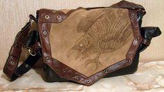 Raven, Steampunk Laptop bag by Ihelen-cat on deviantART