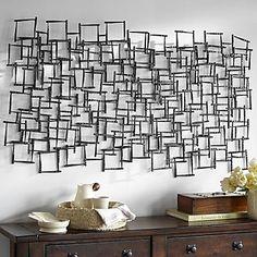 e-Home® metalen kunst aan de muur muur decor, vierkant patroon stiksels muur decor een stuks – EUR € 254.79