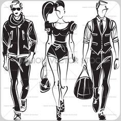Black and white vector sketch. ®Yordanka Poleganova