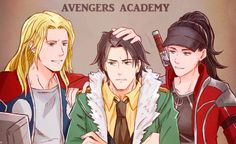 "asgard-jupiter: ""AVENGERS ACADEMY ""THOR&LOKI&SIF"" my favorite asgardian…"