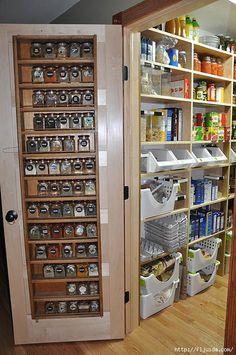 spice rack on door