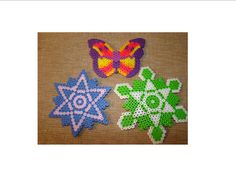 Stars and butterfly perler beads by M. G. - Perler® | Gallery