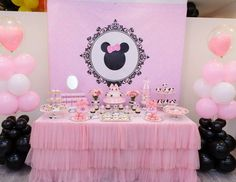 "Minnie Mouse / Birthday ""Claire and Chloe's 1st Birthday"" 