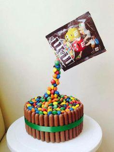Mnm and Kit Kat cake
