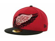 Detroit Red Wings Over Flock 59FIFTY Cap Hats New Era Hats 9d333a02a278