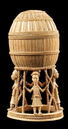 África   Magnífica e importante bodega de sal de marfil Sapi-Portuguesa de Sierra Leona   De finales del siglo XV al comienzo del siglo XVI