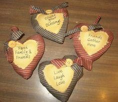 Wood n' Whimsy: Prim Homespun Heart Bowl Fillers Giveaway