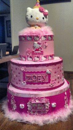 Hello Kitty Diaper Cake. I Made It!