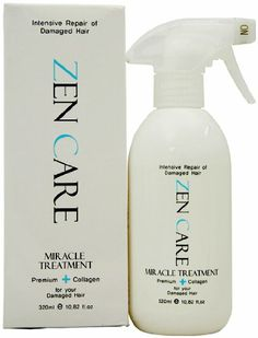 Zen Care Miracle Treatment Premium + Collagen.  I got this as a gift for my birthday, and, MAN, this is some great stuff. For someone struggling with 40-something frizzy hair, this is really a great product, and, I've tried EVERYTHING.  D