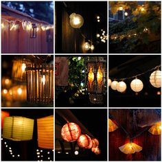 backyard fiesta party at night | butterfly backyard 2 lights 3 yellow string of backyard lights 4 ...