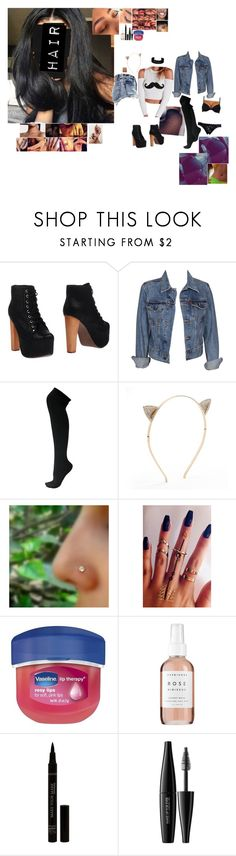 """""""Untitled #5566"""" by bby-16-gul ❤ liked on Polyvore featuring Jeffrey Campbell, Levi's, Apt. 9, Vaseline, Herbivore, MAKE UP FOR EVER and Forever 21"""