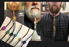 Beard dread hair Stone Skull Lacers made of carved howlite. Pick a color. lightweight Hair wrap be Beard beard dreads Types Of Beard Styles, Viking Beard Styles, Hair And Beard Styles, Long Hair Styles, Dreadlock Beads, Dread Beads, Beard Dreads, Beard Accessories, Beard Jewelry