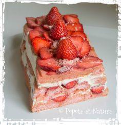 © Popote et Nature - Charlotte aux fraises et aux biscuits de Reims