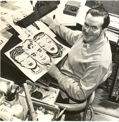 """Ohio-born cartoonist Milton Caniff (1907-1988) was creator of the """"Terry and the Pirates"""" and """"Steve Canyon"""" comic strips."""
