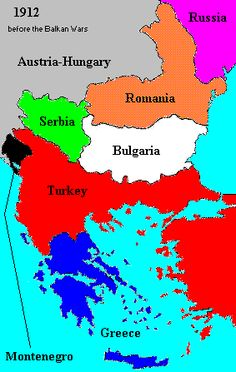 1912  The Balkans before the Balkan War  Road to World War I