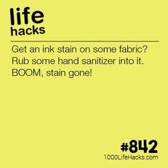 How To Get An Ink Stain Out - 1000 Life Hacks - Improve your life one hack at a time. 1000 Life Hacks, DIYs, tips, tricks and More. Survival Life Hacks, Survival Tips, Simple Life Hacks, Useful Life Hacks, Household Cleaning Tips, Cleaning Hacks, Deep Cleaning, Life Hacks Iphone, 1000 Lifehacks