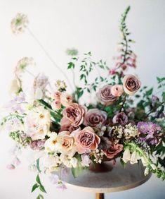 9 Quick Clever Tips: Wedding Flowers Pastel Floral Arrangements wedding flowers colorful spring. Wedding Table Centerpieces, Wedding Flower Arrangements, Floral Centerpieces, Wedding Bouquets, Wedding Decorations, Centrepieces, Centerpiece Ideas, Purple Centerpiece, Flower Bouquets