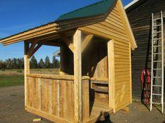 Outdoor Bar and Wood Storage - Tiki Bar