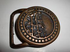 Vintage Clingman's Dome 1974 Solid Brass Belt Buckle Men's Tech Ether Guild Inc   eBay