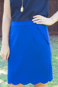Stitch Fix October 2014 Review - Brixon Ivy Heidi Scallop Hem Pencil Skirt