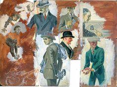 Leyendecker, J C Leyendecker, Joseph Christian Leyendecker, Leyendecker original artwork, Leyendecker original studies