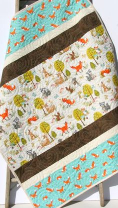 Striped Woodland Quilt Kit DIY Project Easy Beginner Modern Quilt Kit Boy Girl Forest Fellows 2019 The post Striped Woodland Quilt Kit DIY Project Easy Beginner Modern Quilt Kit Boy Girl Forest Fellows 2019 appeared first on Nursery Diy. Diy Baby Quilting, Baby Quilts Easy, Baby Boy Quilts, Girls Quilts, Quilting Fabric, Modern Baby Quilts, Quilting 101, Kid Quilts, Amish Quilts