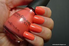 Well, like green I don't have very many orange nail polishes in my collection. Here is one I recently picked up at Walgreens: Sinful Colors. Orange Nail Polish, Orange Nails, Coral Nails, Sinful Colors, Nail Ideas, Hair And Nails, Enchanted, My Favorite Things, Fun