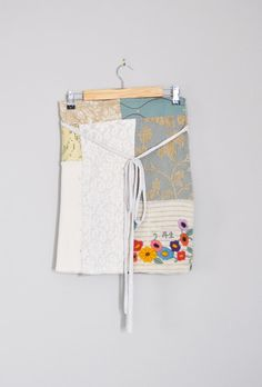 Reserved/Boho Patchwork Winter Wrap Skirt in a by RebirthRecycling