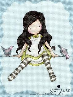 Gorjuss - On Top Of The World - Cross Stitch Kit from Bothy Threads