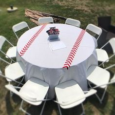 ORIGINAL Baseball Party Themed Red Chevron Modern Wedding Table Runner - set of 2 by your choice of length Chevron Wedding or Party runners Baseball Theme Birthday, Sports Themed Birthday Party, Baby Boy 1st Birthday Party, Birthday Bar, Baseball Party Centerpieces, Baseball Decorations, Dodgers Party, Red Chevron, Bar Mitzvah