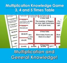 Multiplication Tables Facts Snap Game, Help With Times Tables, Maths Games, Teaching Activity, Fun Learning , Solo Game or More Multiplication Games For Kids, Multiplication Facts Worksheets, Math Games For Kids, Multiplication Tables, Maths, Teaching Activities, Fun Learning, Times Tables Flash Cards, Dictionary For Kids