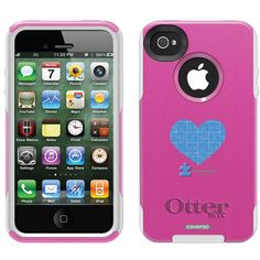 Autism Speaks Puzzle Heart Autism Awareness design on OtterBox® Commuter Series® Case for iPhone 4 / 4S in Black