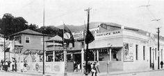 """Cinema High Life ficava na Praia de Botafogo, esquina com Rua da Passagem. Na década de 50 (quando a foto abaixo foi tirada), o High Life mudou de nome: virou o """"Guanabara"""", que funcionou até 1977, quando foi demolido."""